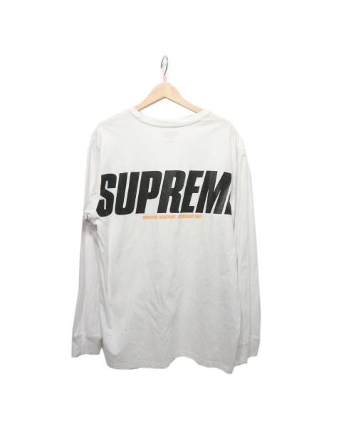 Supreme(シュプリーム)Supreme (シュプリーム) Trademark L/S ホワイト サイズ:Lの古着・服飾アイテム
