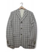 ()の古着「コットンリネンジャケット」|ホワイト×ブラック