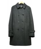 MACKINTOSH(マッキントッシュ)の古着「ウールソフトメルトンダブルブレストベルテッドコート」|グレー