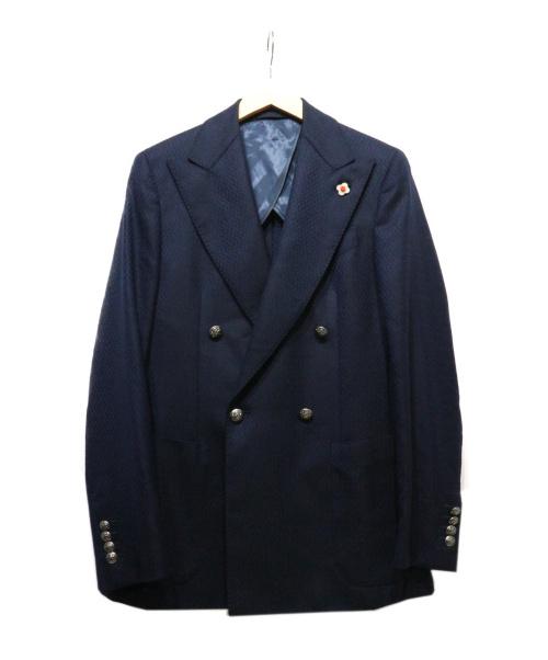 LARDINI(ラルディーニ)LARDINI (ラルディーニ) 4Bダブルブレストジャケット ネイビー サイズ:44の古着・服飾アイテム