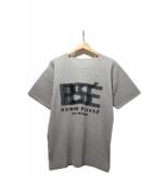 HOMME PLISSE ISSEY MIYAKE(オム プリッセ イッセイ ミヤケ)の古着「半袖カットソー」|グレー