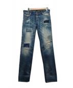 DSQUARED2(ディースクエアード)の古着「パッチワークデニムパンツ」|ブルー