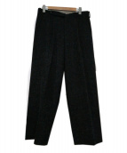 JOHN LAWRENCE SULLIVAN(ジョンローレンスサリバン)の古着「センタープレスウールワイドパンツ」|チャコールグレー