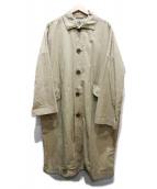 Ordinary fits(オーディナリーフィッツ)の古着「ステンカラーコート」|ベージュ