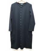 agnes b(アニエスベー)の古着「スタースナップボタンカーデワンピース」|ブラック
