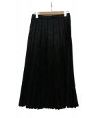 ISSEY MIYAKE FETE(イッセイミヤケ フェット)の古着「ロングスカート」|ブラック
