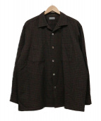 COMME des GARCONS HOMME(コムデギャルソン・オム)の古着「オープンカラーシャツ」 ブラウン