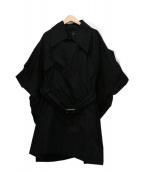 LIMI feu(リミフゥ)の古着「ドルマントレンチコート」|ブラック