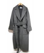 ETRE TOKYO(エトレトウキョウ)の古着「ウールベルテッドコート」 グレー