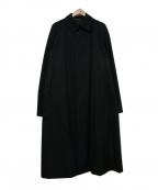 Yohji Yamamoto COSTUME DHOMME(ヨウジヤマモトコスチュームドオム)の古着「ステンカラーコート」|ブラック