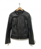 DKNY(ダナキャランニューヨーク)の古着「レザージャケット」 ブラック