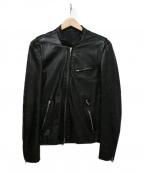 LITHIUM HOMME(リチウムオム・ファム)の古着「レザージャケット」|ブラック