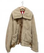 ROTOL(ロトル)の古着「ボアジャケット」 ベージュ