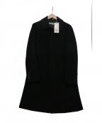 KATHARINE HAMNETT(キャサリンハムネット)の古着「ステンカラーコート」 ブラック