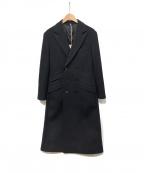 KATHARINE HAMNETT(キャサリンハムネット)の古着「ダブルチェスターコート」 ブラック