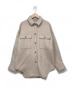 Rouge vif(ルージュヴィフ)の古着「CPOジャケット」 ベージュ
