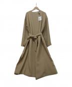 ROPE mademoiselle(ロペマドモアゼル)の古着「ラップコート」 ベージュ