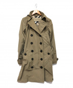 BURBERRY BRIT(バーバリーブリット)の古着「フード付きトレンチコート」|ベージュ