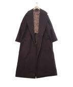 SACRA(サクラ)の古着「ラムビーバーコート」|ボルドー