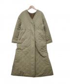 EMMEL REFINES(エメル リファインズ)の古着「キルティングコート」|オリーブ