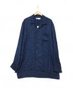 THEE(シー)の古着「オープンカラーシャツ」|ネイビー