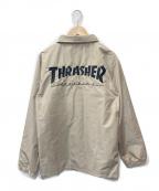 THRASHER(スラッシャー)の古着「コーチジャケット」|ベージュ