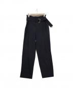 CLANE HOMME(クラネ オム)の古着「ベルテッドパンツ」|ネイビー
