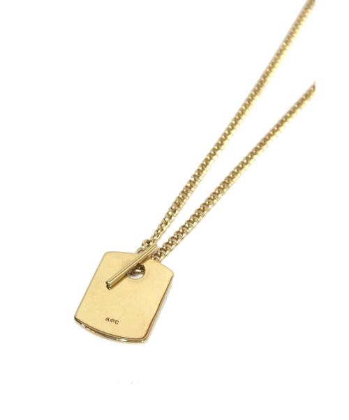A.P.C.(アーペーセー)A.P.C. (アーペーセー) ドッグタグネックレス ゴールドの古着・服飾アイテム