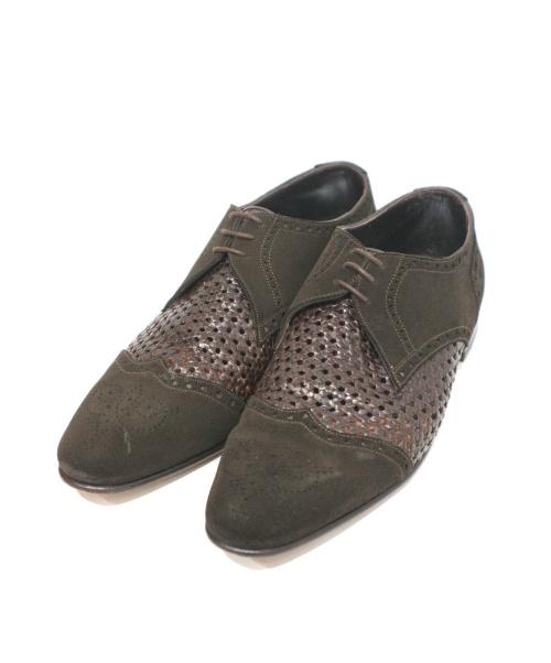 DUCAL(デュカル)Ducal (デュカル) 切替シューズ ブラウン サイズ:40 1/2の古着・服飾アイテム