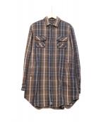 UNDERCOVER(アンダーカバー)の古着「ネルシャツ」|ブラウン