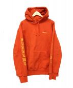 SUPREME(シュプリーム)の古着「peace hooded sweatshirt」|オレンジ