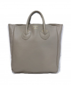 YOUNG & OLSEN The DRYGOODS STORE(ヤングアンドオルセン ザ ドライグッズストア)の古着「EMBOSSED LEATHER TOTE L」 ベージュ