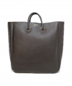 YOUNG & OLSEN The DRYGOODS STORE(ヤングアンドオルセン ザ ドライグッズストア)の古着「EMBOSSED LEATHER TOTE L」 ブラウン