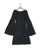 MM6 Maison Margiela(エムエムシックス メゾンマルジェラ)の古着「フレアスリーブカットソー」|ブラック