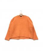 CABAN()の古着「クルーネックニット」|オレンジ