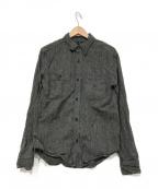 OLD JOE & Co.(オールドアンドジョー)の古着「バック刺繍シャツ」|チャコールグレー