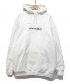 BALENCIAGA()の古着「プルオーバーパーカー」|ホワイト