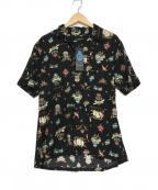 GUILD PRIME(ギルドプライム)の古着「オープンカラーシャツ」 ブラック
