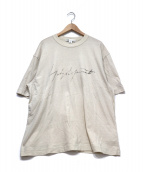 ()の古着「M DISTRESSED SIGNATURE SS TEE」|ベージュ
