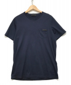 PRADA(プラダ)の古着「ポケットTシャツ」|ネイビー