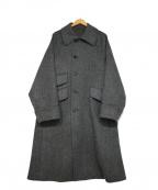 ETONNE(エトネ)の古着「ステンカラーコート」|グレー