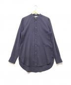 Acne(アクネ)の古着「バンドカラーシャツ」|ブルー