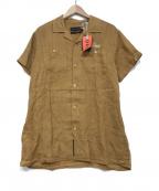 DEUS EX MACHINA(デウス エクス マキナ)の古着「オープンカラーシャツ」|ブラウン