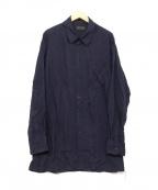 syte(サイト)の古着「Cut off Regular Collar Shirt」|パープル