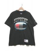 SUPREME×Champion(シュプリーム×チャンピオン)の古着「プリントTシャツ」 ブラック