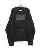 Maison Margiela10(メゾンマルジェラ10)の古着「ラベルスウェットシャウ」|ブラック