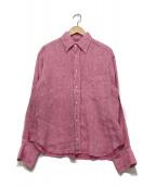 ()の古着「リネンシャツ」 ピンク