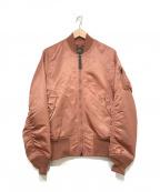 ALPHA(アルファ)の古着「フライトジャケット」|ピンク