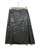 GUCCI(グッチ)の古着「リネンスカート」|ブラック