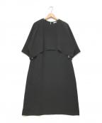 qualite(カリテ)の古着「ケープワンピース」|ブラック